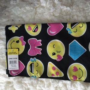 Accessories - Smiley Emoji Bandana Bib 20in Square